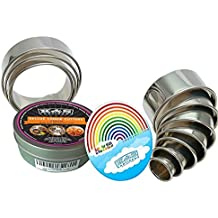 K&S Artisan Heavy Duty Round Cookie Biscuit Cutter Set 11 Graduated & NUMBERED Circle Pastry Cutters Stainless Steel Baking Metal Circle Ring Molds Round Cutters For Muffins Crumpets Donuts & Scones