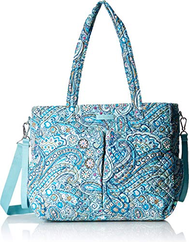 Vera Bradley womens Iconic Ultimate Baby Bag, Signature Cotton, Daisy Dot Paisley, One Size ()