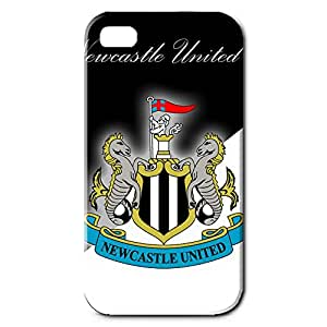 Unique Newcastle United Logo Design Phone Case For 3D Hard Plastic Snap On Iphone 4