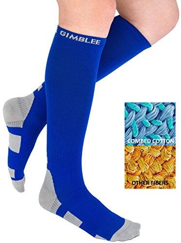 Compression Socks for Women Men 15-20 mmHg - Best Graduated High Medical & DVT - Nurse mates, Maternity & Pregnancy - Running, Flight Travel - Ankle Sequential anti fatigue Mild wide calf