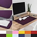 casa pura Non-Slip Purple Desk Mat | 20'' x 26'' (1.6'x2') | PVC & Phthalate Free | Multiple Colors to Choose from | Matching Chair Mats Available