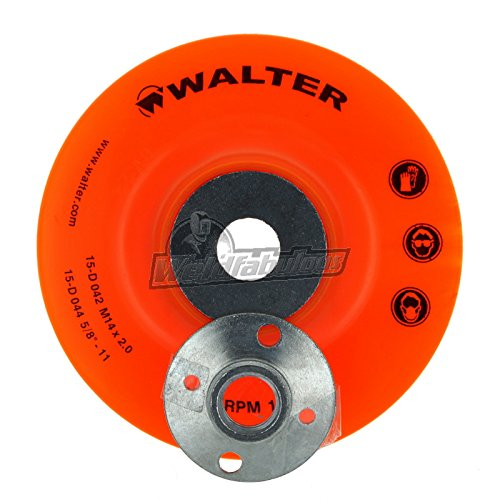 Walter Surface Technologies 15D044 Backing Pad Assemblies- 4 ½ in .Sanding Disc Pad. Abrasive Wheel Pads