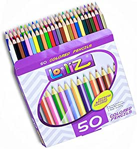 LolliZ 50 Colored Pencils Set