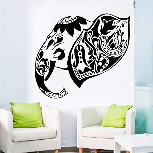 nkfrjz Adhesivo de Pared de Arte Cabeza de Elefante Indio Tatuajes ...