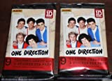 one direction 18 - 2013 - 2 PACKS - ONE DIRECTION TRADING CARDS (18 CARDS & 2 STICKERS)