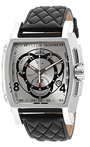 Invicta Men's 15789 S1 Rally Analog Display Swiss Quartz Black Watch (Invicta Watch Black Leather)