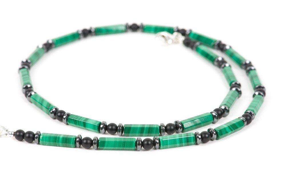 Gemstone Choker Emerald Black Onyx Necklace