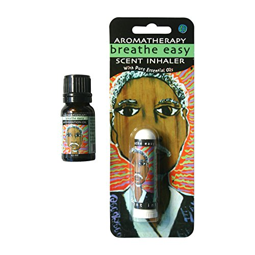 Easy Scent Inhaler (Earth Solutions Breathe Easy Affirmation Oil and Aromatherapy Scent Inhaler Kit. Includes Affirmation & Pure Essential Oil Blend for Sinus and Congestion - Therapeutic Grade Essential Oils)