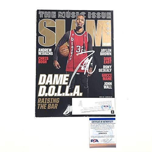 Damian Lillard Signed Slam Magazine Portland Trailblazers Autographed Da - PSA/DNA Certified - Autographed NBA Magazines