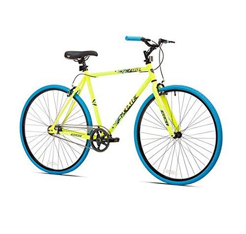 700c Kent Thruster Men's Fixie Bike, Yellow/blue