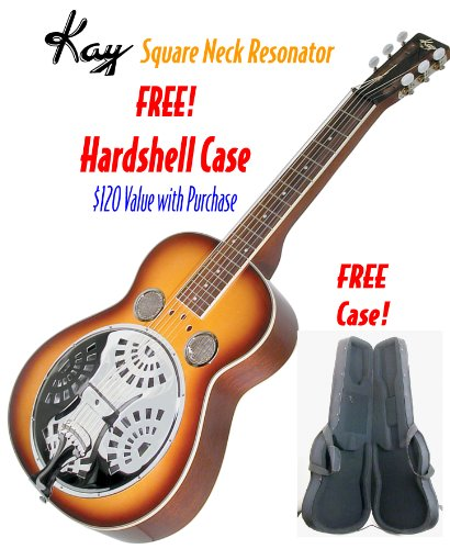 Kay KDS336-C Square Neck Resonator Guitar with FREE Case