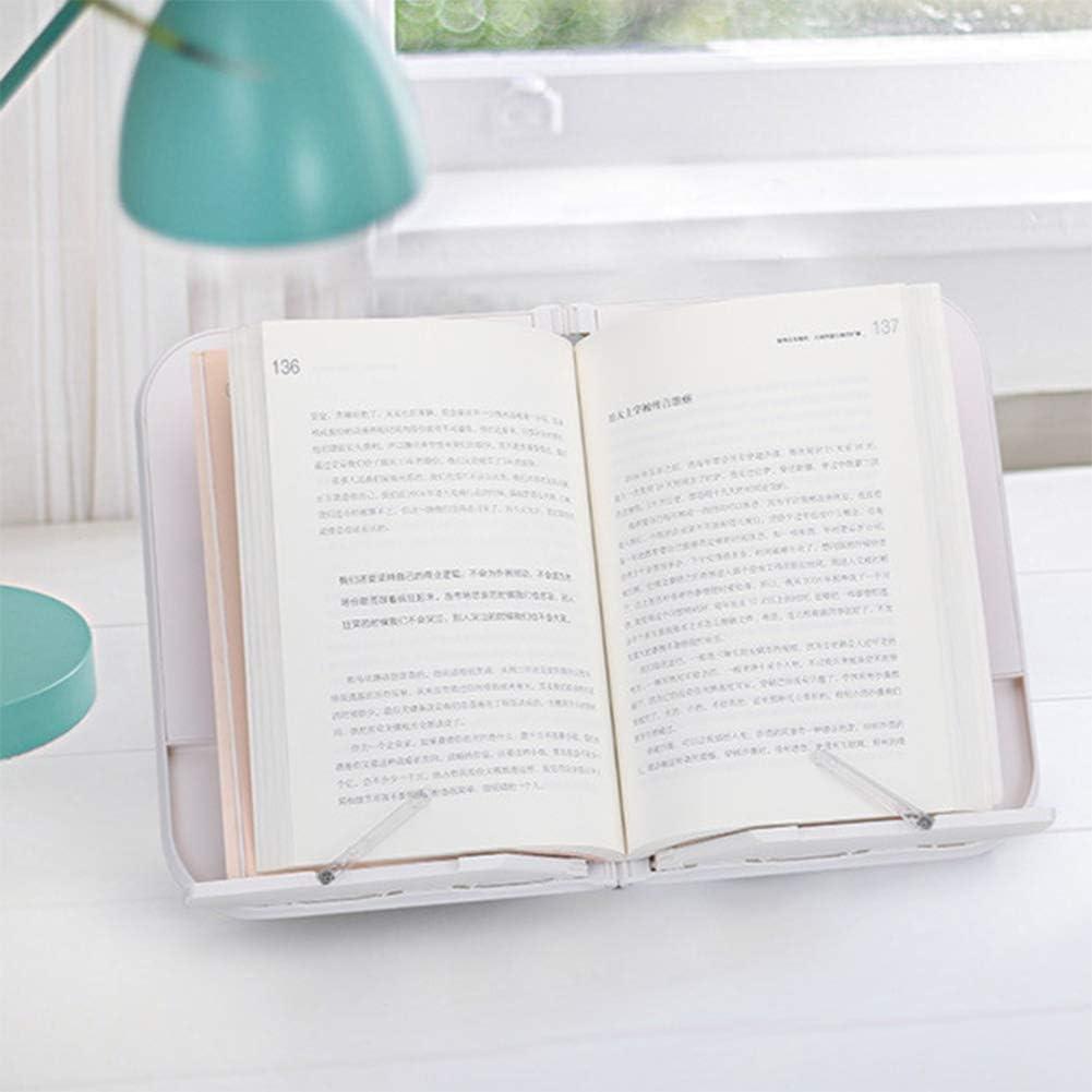 Einstellbare Buchhalter Fach Falten Kochbuch Dokument Lesest/änder Multifunktionale B/ücher Regal Tragbare Buchst/änder