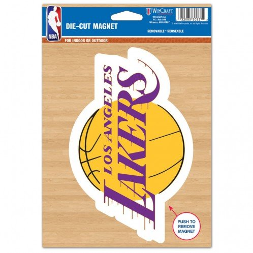 Wincraft NBA Los Angeles Lakers Die Cut Logo Magnet, 6.25