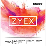 D'Addario Zyex Viola String Set, Medium Scale, Medium Tension