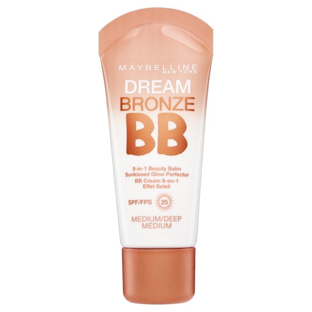 3 x Maybelline Dream Bronze BB 8 in 1 Beauty Balm SPF25 30ml - Medium/Deep Maybelline New York