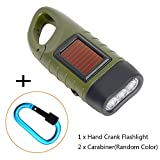 2 Set Key chain Solar Power Flashlight with Strong Carabiner, Outdoor  LED Light Torch for Outside Sports Hiking Camping Travel Hunting Fishing Random Color