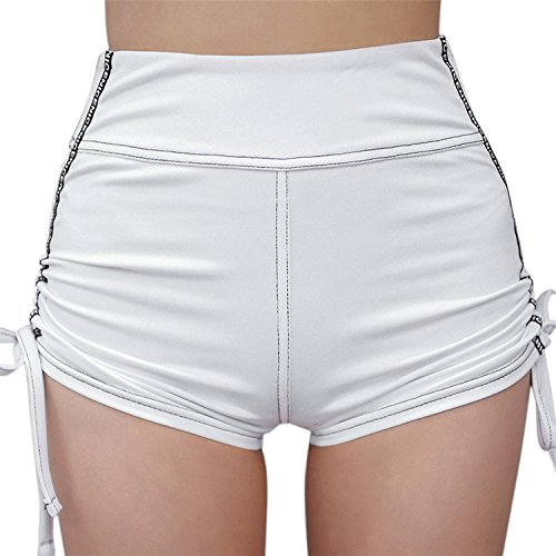 Lisli Short ud PantsTaille Sport Casual Plage Silm Papillon Haute lastique Coton N t Femme Blanc Fitness Fille Mode rxFSnwr