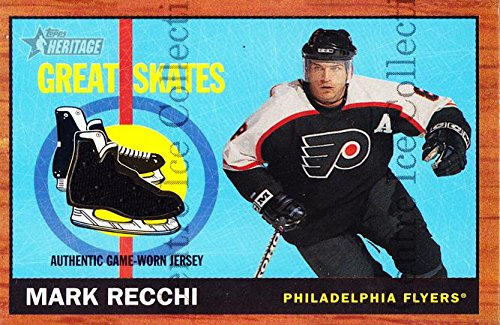 (CI) Mark Recchi Hockey Card 2002-03 Topps Heritage Great Skates MR Mark Recchi ()