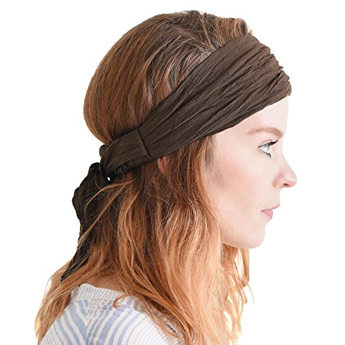CHARM Womens Headband Boho Headwrap - Turban Head Wrap Festival Retro Hair Accessory Pirate Hairband -