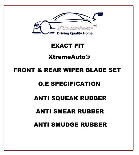 XtremeAuto/® Front /& Rear Window Windscreen Replacement Wiper Blades