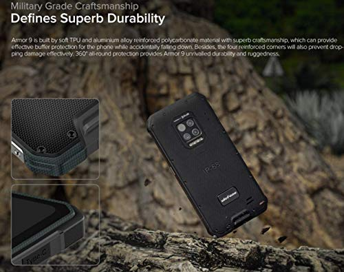 Ulefone Armor 9(2020) Rugged Phones Unlocked, Thermal Imaging Scanner Camera Rugged Cell Phones 64MP IP68 Waterproof,8GB+128GB, Android 10,6.3-inch, 6600mAh Dual Sim 4G Rugged Smartphones
