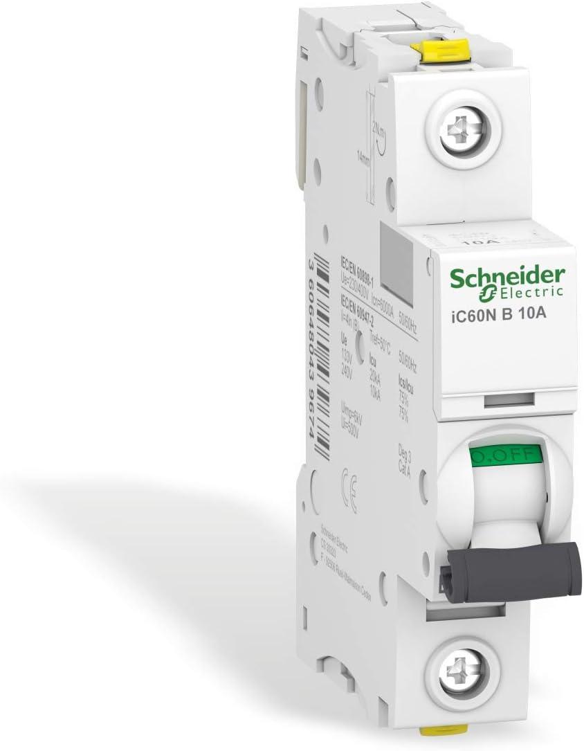 1P B caract/éristique Schneider A9F03110 Disjoncteur iC60N 10A