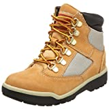Timberland 6-Inch Leather and Fabric Field Boot (Toddler/Little Kid/Big Kid),Wheat Nubuck,4 M US Toddler