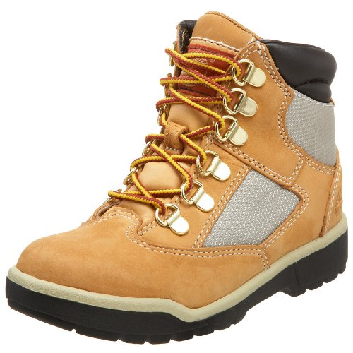 Youth Wheat Nubuck Kids Shoes (Timberland 6-Inch Leather and Fabric Field Boot (Toddler/Little Kid/Big Kid),Wheat Nubuck,2.5 M US Little Kid)