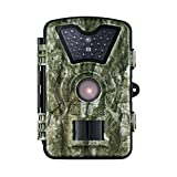 VICTSING HD Game&Trail Wildlife Camera with with Infrared 24 Black LEDs 8MP 720P 2.4' LCD Screen IP66 Waterproof Night Vision Hunting Scouting Surveillance Camera - Never Scare the Animals