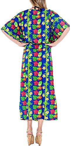 s39 coprire usura sciolto Blu lungo LA LEELA usura costume delle kimono caftano del donne spiaggia bagno notte abito di da R6Rx1Hq