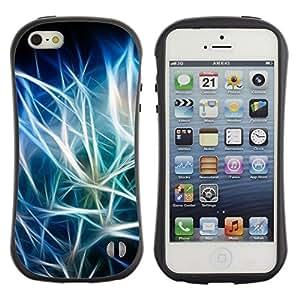"Hypernova Slim Fit Dual Barniz Protector Caso Case Funda Para Apple iPhone SE / iPhone 5 / iPhone 5S [Azul Negro iridiscente""]"