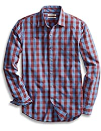 Men's Slim-Fit Long-Sleeve Large-Scale Check Shirt