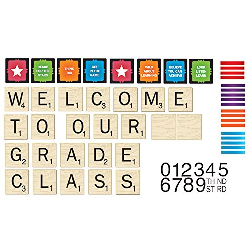 Adventure Bulletin Board Set - Eureka Scrabble Welcome to Our Class Mini Bulletin Board Set