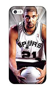 Awesome Tim Duncan Flip Case With Fashion Design For Iphone 5/5s