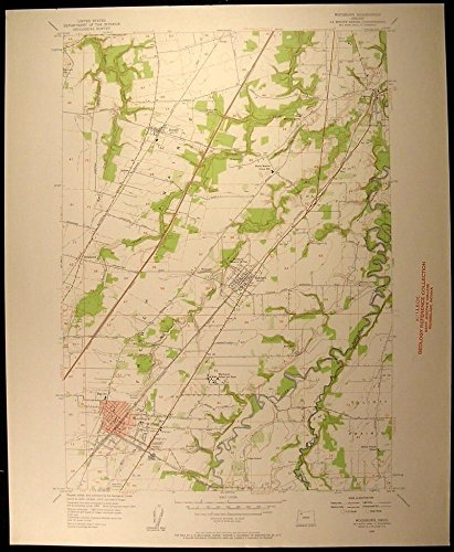 Woodburn Oregon Aurora Hubbard Donald 1958 vintage USGS original Topo chart - Woodburn Map Oregon Of