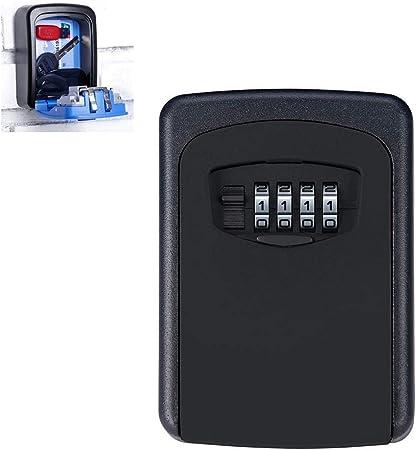 Caja Fuerte Pequena Pared con llave,Cajas de Organizador Secreto de Almacenamiento de llaves Ocultas Montadas en la pared con 4 dígitos Combinación Cerradura de Contraseña Casa llaves de Seguro,Black: Amazon.es: Hogar