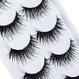 DAEDALUS 5 Pairs Makeup False Eyelashes Handmade Long Thick Fake Eye Lashes Extension