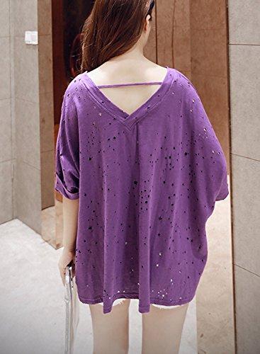 Futurino - Camiseta - para mujer morado