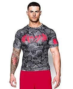 Under Armour Mens UA Combine® Training Skull Bolt Compression T-Shirt Large Black