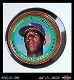 1971 Topps Coins # 93 Willie Davis Los Angeles Dodgers (Baseball Card) Dean's Cards 3 - VG Dodgers
