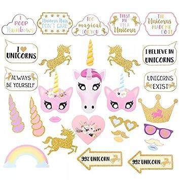 thematys® Cumpleaños de niña Unicornio Decoración Cuadro de ...