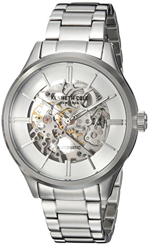 Kenneth Cole New York Men's Automatic Stainless Steel Casual Watch, Color:Silver-Toned (Model: KC15171002)