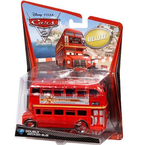 Disney / Pixar CARS 2 Movie 155 Die Cast Car Oversized Vehicle #4 Double Decker Bus