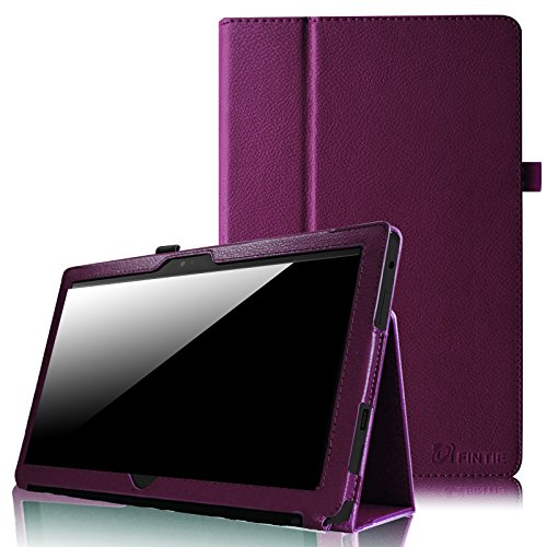Fintie Folio Case for Microsoft Surface RT/Surface 2 10.6 inch Tablet Slim Fit with Stylus Holder (Does Not Fit Windows 8 Pro Version) - Purple