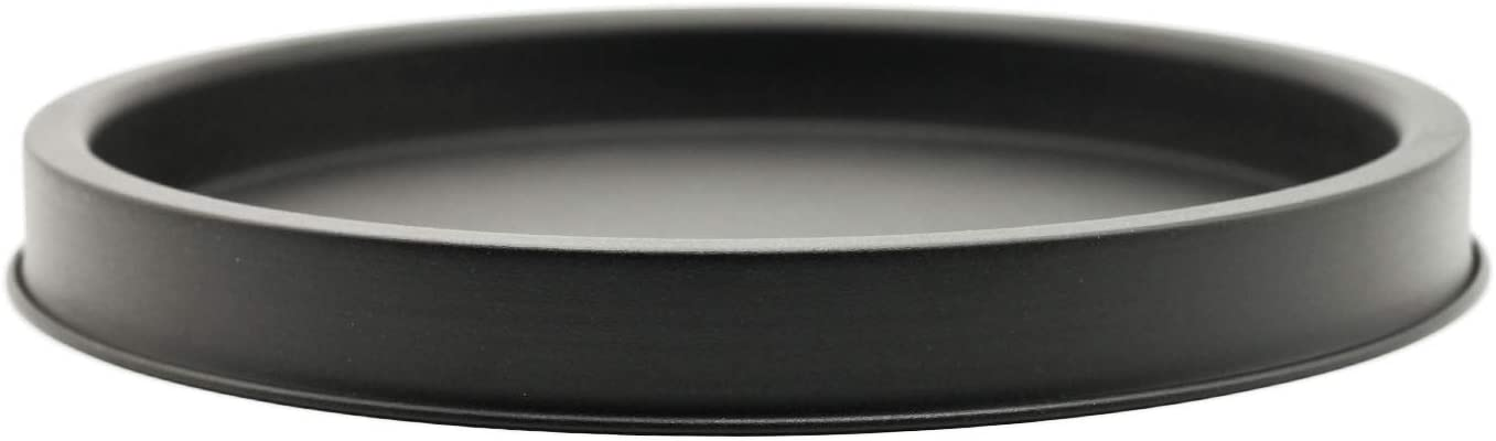 SUJUN Matte Black Metal Candle Holder Tray, Home Decor Accessories for The Coffee Table and Dining Table Large