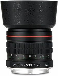 Lightdow 85mm F/1.8 Medium Telephoto Portrait Prime Manual Focus Full Frame Lens for Canon EOS Rebel T7, T7i, T6, T6i, T5, T5i, SL2, 80D, 77D, 700D, 70D, 60D, 50D, 5D, 6D, 7D, 600D, 550D, 200D etc