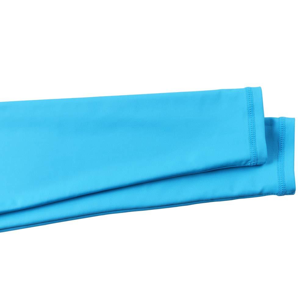 TFJH E Girls' Long-Sleeve Rashguard Swim Shirt UV 50+ Surfing Beachwear, Blue 10A by TFJH E (Image #4)