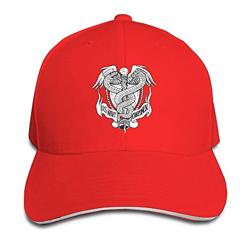 JimHappy US Navy Hospital Corpsman Rating Fashion Trucker Cap Durable Baseball Cap Hats Adjustable Peaked Sandwich Cap -