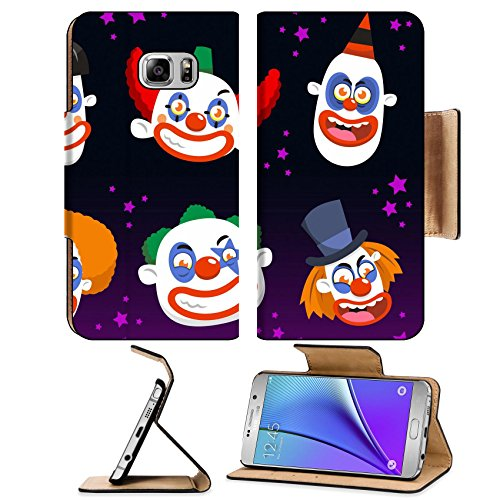 Luxlady Premium Samsung Galaxy Note 5 Flip Pu Leather Wallet Case Note5 IMAGE ID: 33788580 Evil clown cartoon halloween spooky (Clown Makeup Styles)