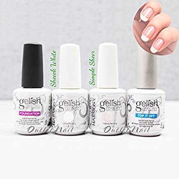 Amazon.com : Gelish French Manicure Kit Soak Off Nail Polish Gel ...